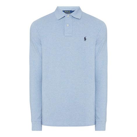 Mesh Long Sleeve Polo Shirt, ${color}