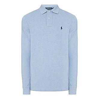 Mesh Long Sleeve Polo Shirt