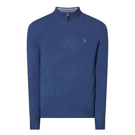 Half-Zip Roll Neck Sweater, ${color}