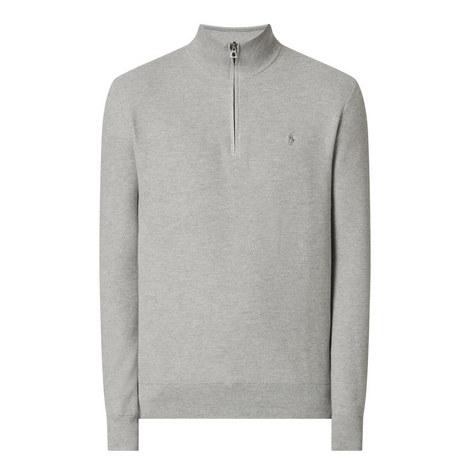 Pima Textured Half Zip Sweater, ${color}