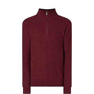 Pima Textured Half Zip Sweater
