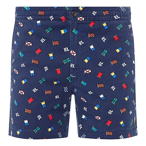 All Over Flag Print Shorts, ${color}