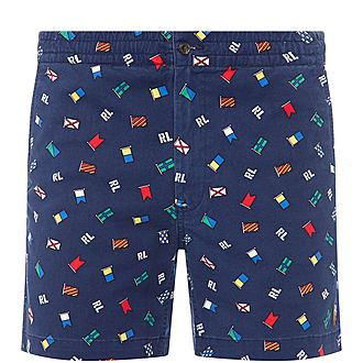 All Over Flag Print Shorts