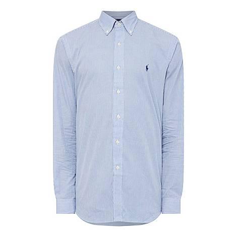 Poplin Stripe Shirt, ${color}
