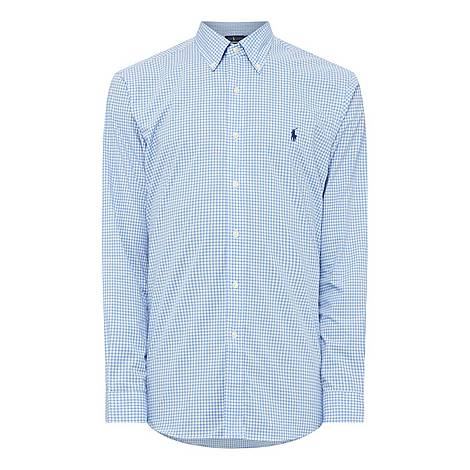 Check Poplin Shirt, ${color}