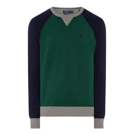 Colour Block Crew Neck Sweater, ${color}