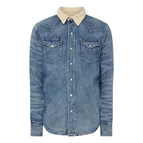 Denim Sherpa Lined Shirt, ${color}