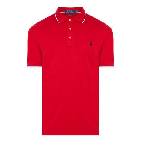 Pima Tipped Collar Polo Shirt, ${color}