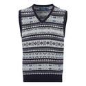 Fairisle Sleeveless Sweater, ${color}