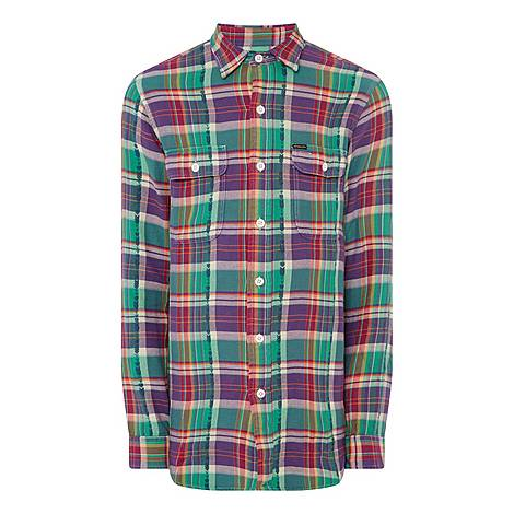 Regular Check Shirt, ${color}