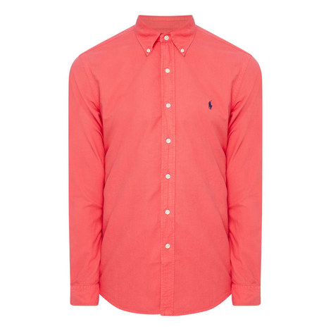 Slim Fit Cotton Oxford Shirt, ${color}