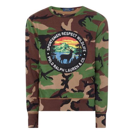 Camouflage Big Logo Sweatshirt, ${color}