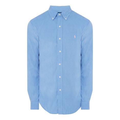 Cord Slim Fit Shirt, ${color}