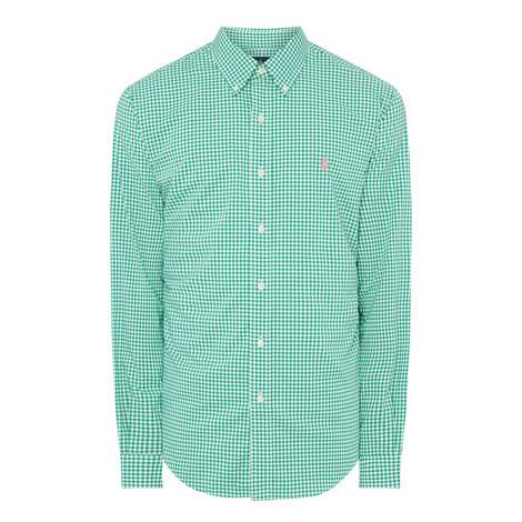 Gingham Cotton Stretch Shirt, ${color}