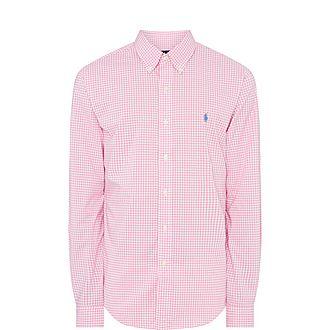 Gingham Cotton Stretch Shirt