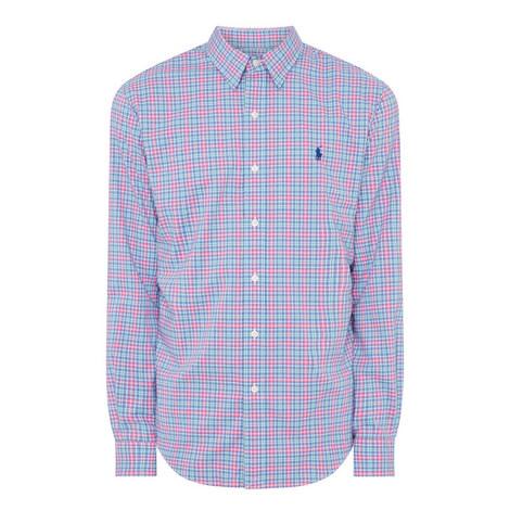 Check Cotton Slim Shirt, ${color}