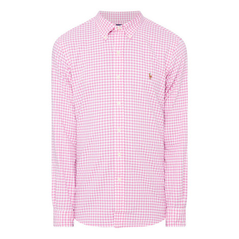 Oxford Slim Gingham Shirt, ${color}