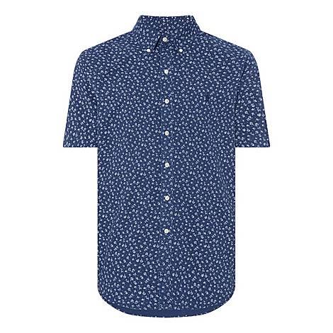 Floral Demin Shirt, ${color}