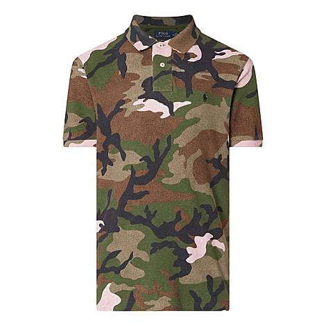Custom Fit Camouflage Polo Shirt, ${color}