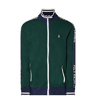 Taped Zip-Through Sweatshirt