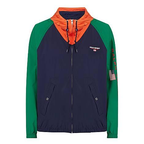 Colour-Block Windbreaker Jacket, ${color}