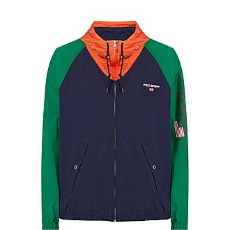 Colour-Block Windbreaker Jacket