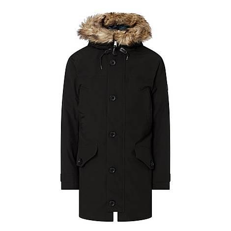 Faux Fur Down Parka, ${color}