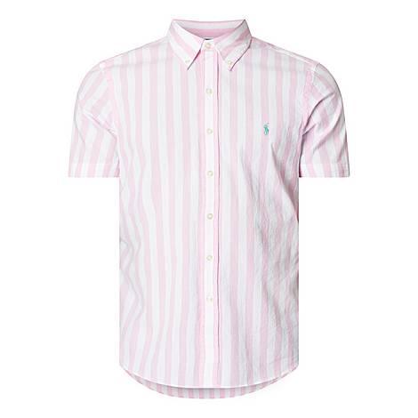 Vintage Stripe Short Sleeve Shirt, ${color}