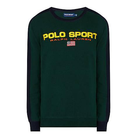 Contrast Logo Sweatshirt, ${color}