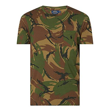 Camouflage Print T-Shirt, ${color}