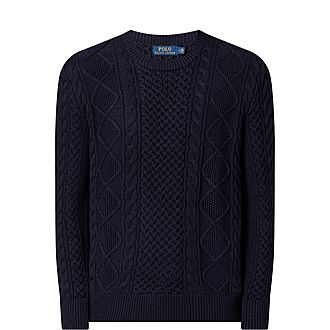 Aran Crew Neck Sweater