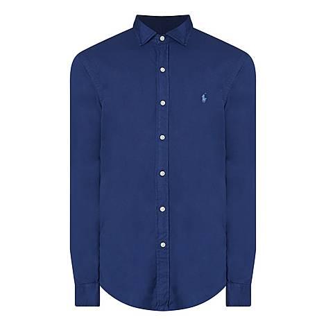 Polo Logo Slim Shirt, ${color}