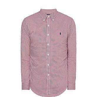 Slim Check Poplin Shirt