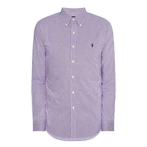 Slim Check Poplin Shirt, ${color}