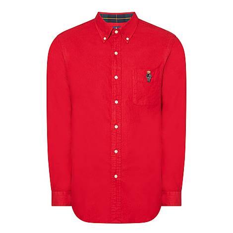 Suit Polo Bear Oxford Shirt, ${color}