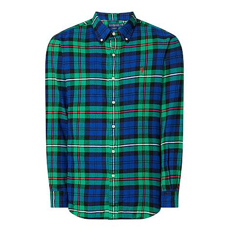 Twill Check Shirt, ${color}