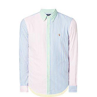 Slim-Fit Colour-Blocked Oxford Shirt