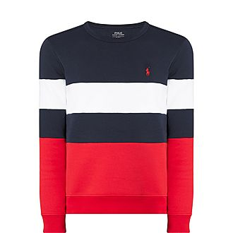 Stripe Print Sweatshirt