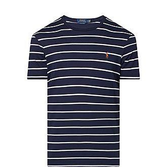 Pima Striped Cotton T-Shirt