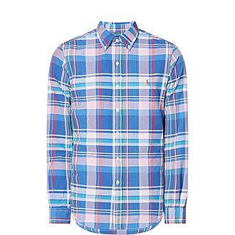 Slim-Fit Gingham Oxford Shirt