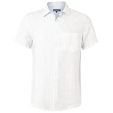 Short Sleeve Linen Shirt, ${color}
