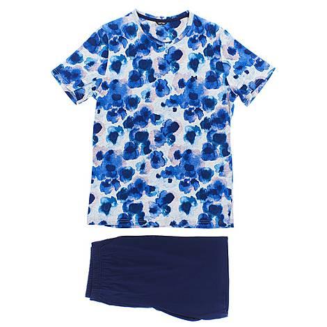Aqua Shorts Sleepwear Set, ${color}