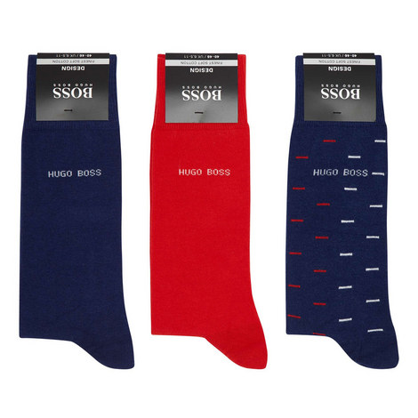 Logo Print Socks Gift Set, ${color}