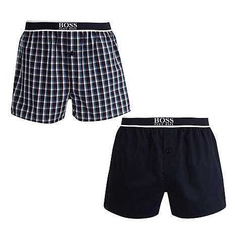 Two-Pack Woven Boxers, ${color}