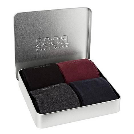 Four Pack Socks Gift Set, ${color}