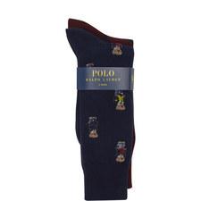 Two-Pack Teddy Bear Socks