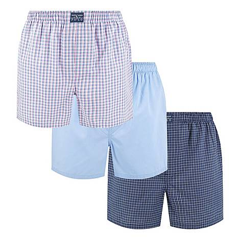Three-Pack Classic Cotton Boxers, ${color}