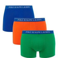 Three Pack Cotton Stretch Boxer Trunks
