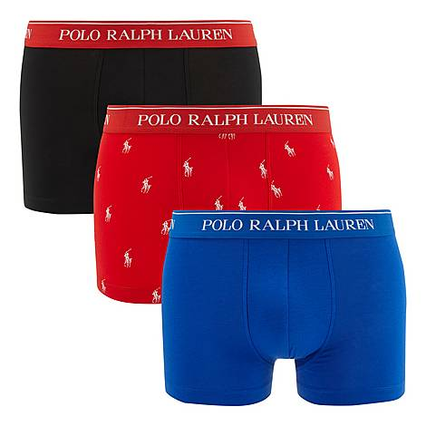 Three-Pack Stretch Cotton Trunks, ${color}