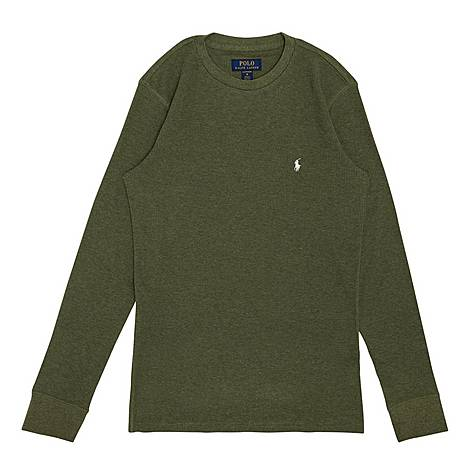Waffle Knit Crew Neck Sweater, ${color}